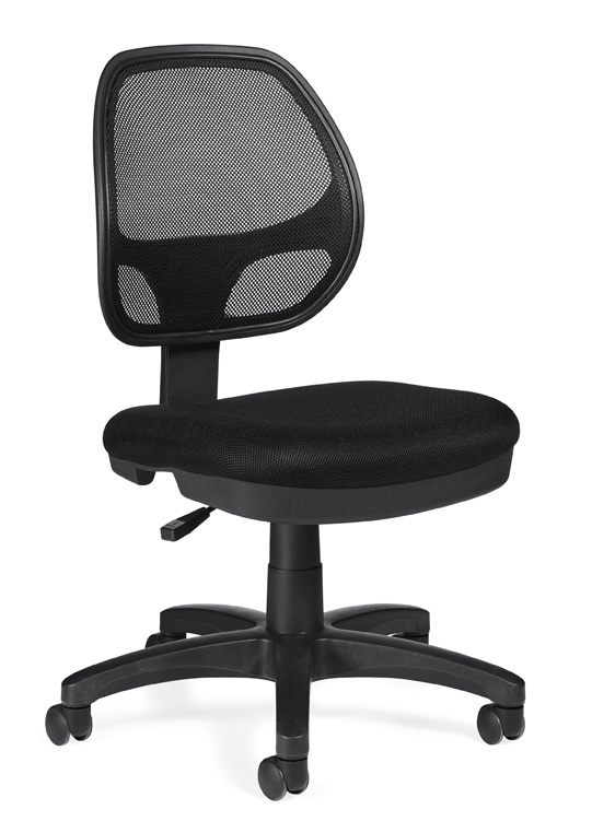Mesh Back Armless Task Chair