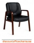 Luxhide Guest Chair w Wood Frame