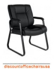 Sled Base Luxhide Guest Chair